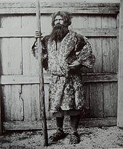 Ainu man, 1900
