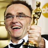 Director Danny Boyle and his S-Dog Oscar