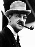 W.S. Maugham with hat and pipe, common accessories for a gentleman of the era