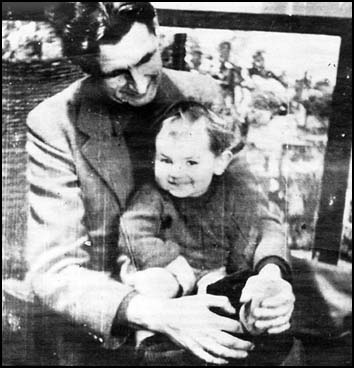Author and son, 1946
